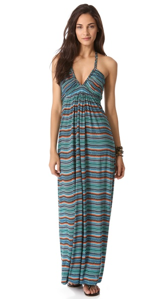 Tbags Los Angeles Braided Back Maxi Dress