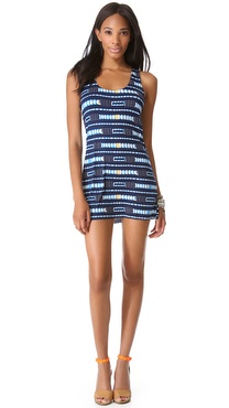 Tbags Los Angeles Scoop Neck Mini Dress