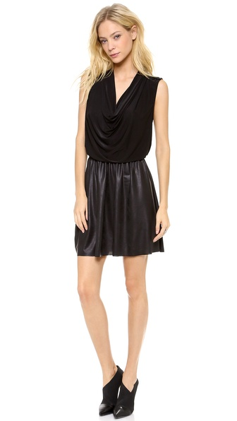 Tbags Los Angeles Petra Draped Neck Mini Dress