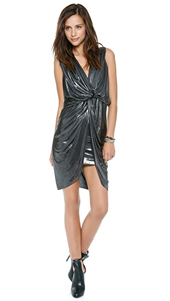Tbags Los Angeles Sleeveless Twist Front Dress