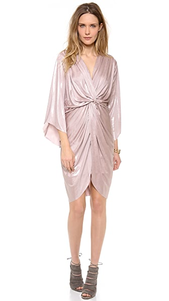 Tbags Los Angeles Petra Metallic Twist Front Dress