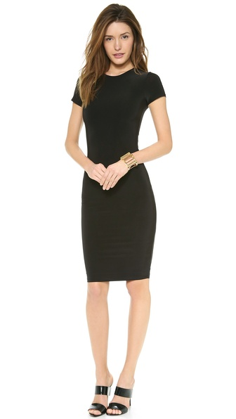 Tbags Los Angeles Short Sleeve Open Back Dress