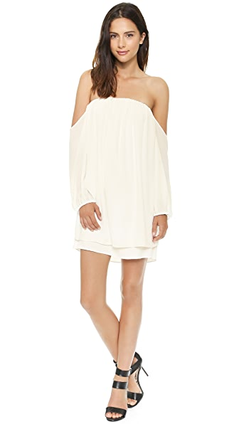 Tbags Los Angeles Off the Shoulder Dress