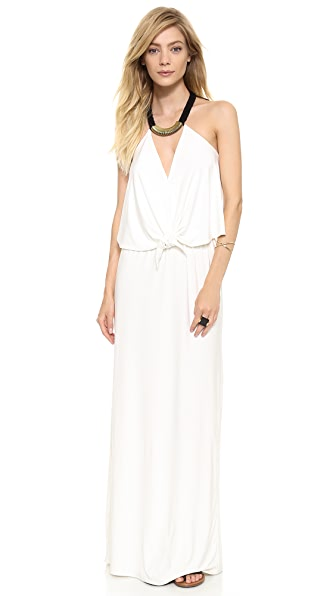 Tbags Los Angeles Convertible Maxi Dress with Necklace