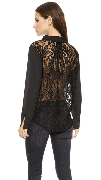 Tbags Los Angeles Shirt with Lace Back
