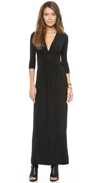 Shop Tbags Los Angeles online and buy Tbags Los Angeles Stretch Jersey Dress Black online