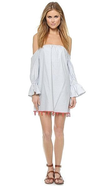 Kupi Tbags Los Angeles haljinu online i raspordaja za kupiti Tbags Los Angeles Off Shoulder Dress Blue-White Stripe online