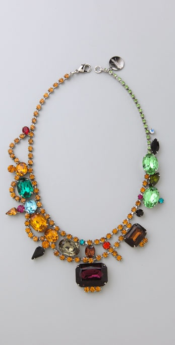 TOM BINNS Faux Real Multicolor Necklace