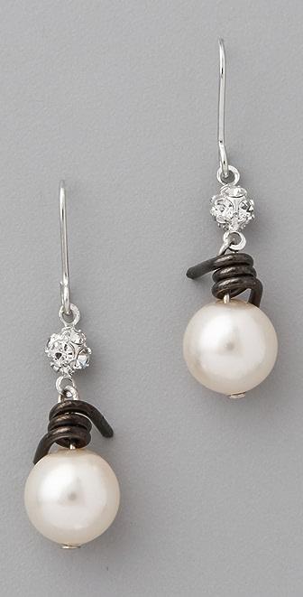 TOM BINNS Jackie Ouch Barbwire & Pearl Earrings