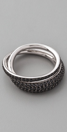 TOM BINNS Bejeweled Pave Saturn Ring