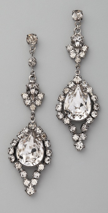 TOM BINNS Dumont Crystal Teardrop Earrings