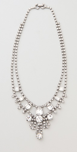 TOM BINNS Madame Dumont Small Crystal Necklace