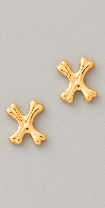 TOM BINNS Double Dare Mini Crossbones Studs