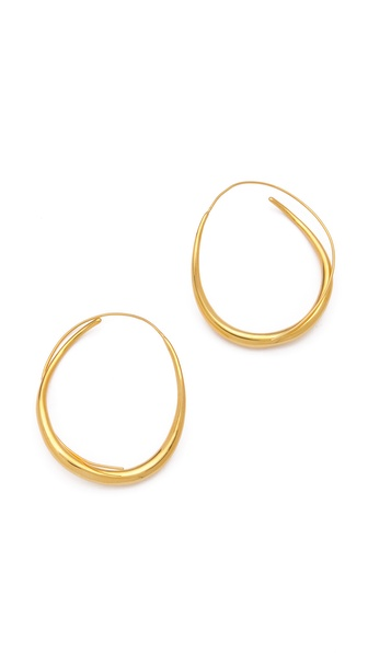 TOM BINNS Classic Wavy Hoops