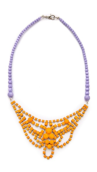 TOM BINNS Bicolor Necklace with Crystal & Pearl
