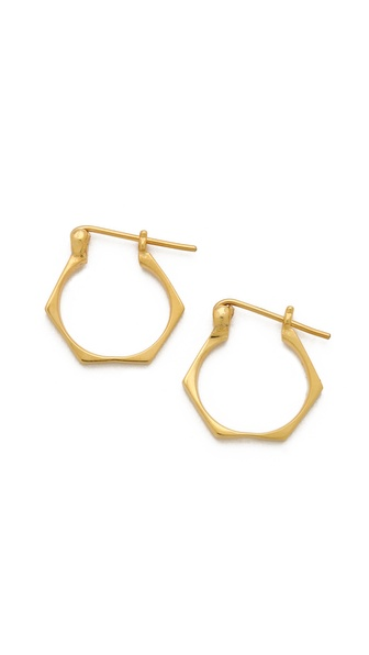 TOM BINNS Bolt Hoop Earrings