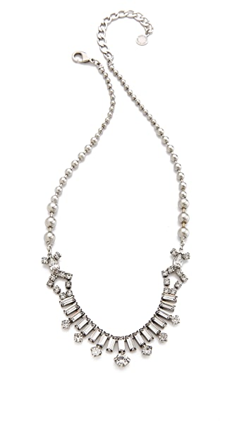 TOM BINNS Skyline Baguette Necklace with Round Drops