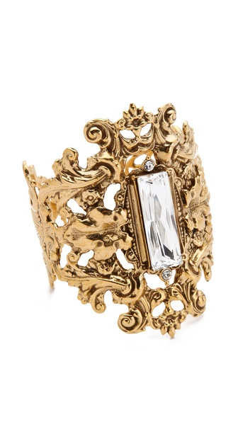 TOM BINNS Rokoko Dumont Cuff with Crystal Stone
