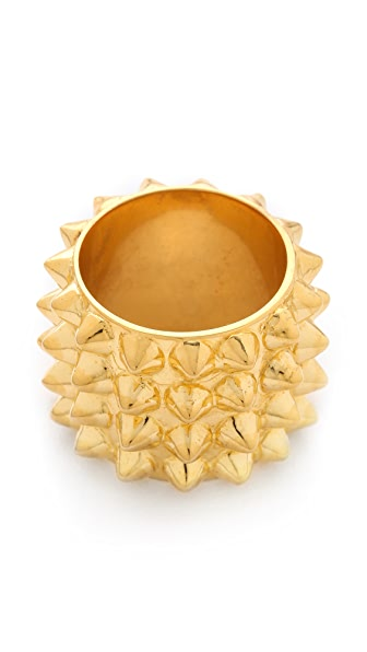 TOM BINNS Studded Cigar Ring