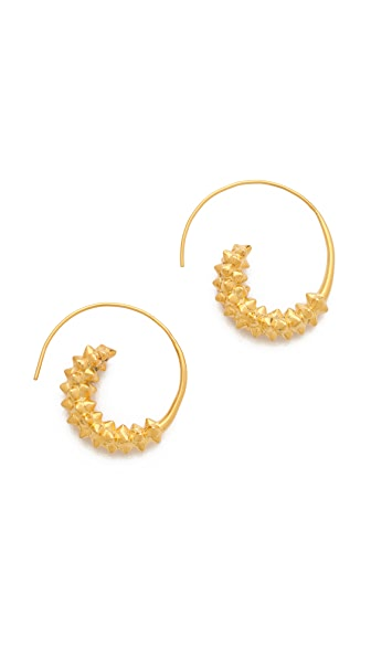 TOM BINNS Studded Swirl Earrings