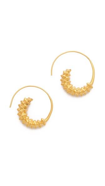TOM BINNS Studded Swirl Earrings