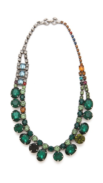 TOM BINNS Faux Real Crystal Necklace