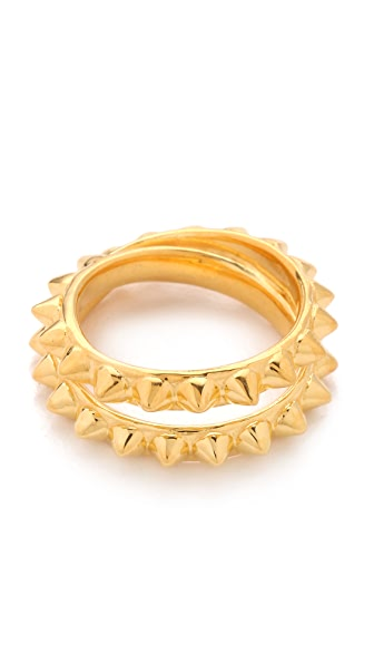 TOM BINNS Punk Pave Studded Saturn Ring