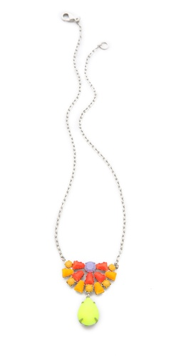 TOM BINNS Electro Clash Nova Teardrop Necklace