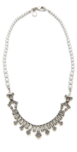 TOM BINNS Regal Rocker Fonce Baguette Necklace