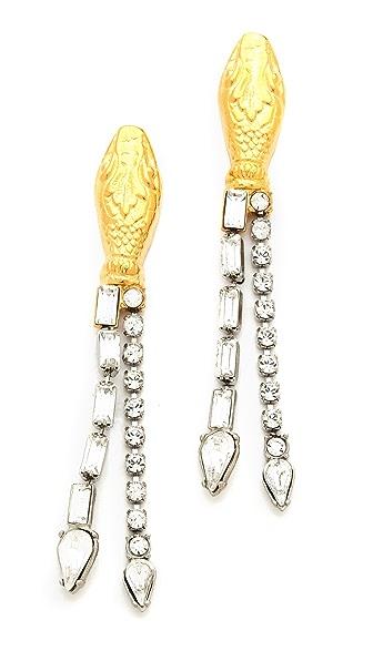 TOM BINNS Crystal Snake Earrings