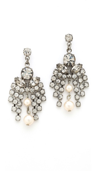 TOM BINNS Grande Dame Crystal Earrings