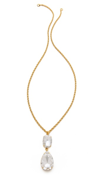 TOM BINNS Crystal Pendant Necklace