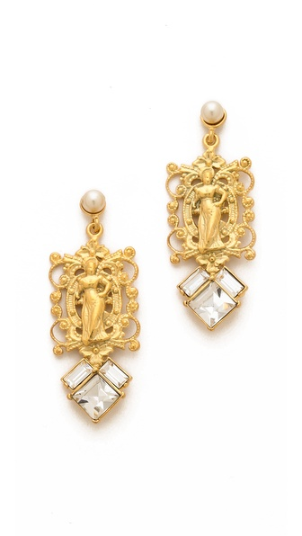 TOM BINNS Rokoco Silhouette Earrings