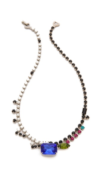 TOM BINNS Asymmetric Stone Necklace
