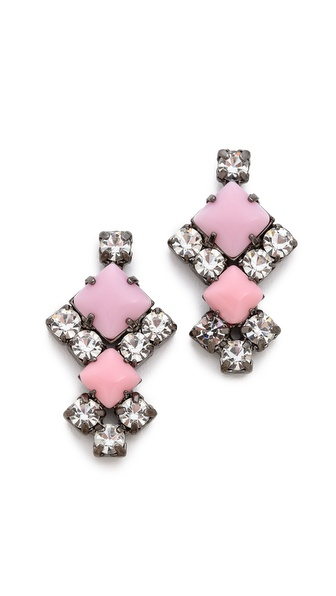 TOM BINNS Neopolitano Crystal Earrings