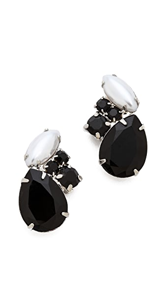 TOM BINNS Dumont Noir Crystal Stud Earrings