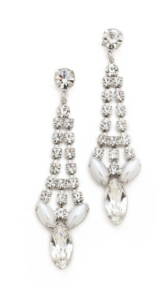 TOM BINNS Madame Dumont Pointed Crystal Earrings
