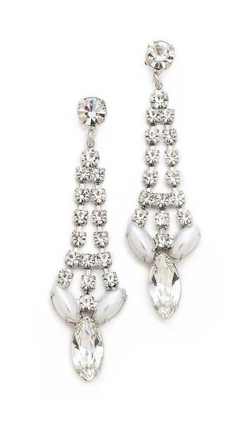 TOM BINNS Madame Dumont Pointed Crystal Earrings