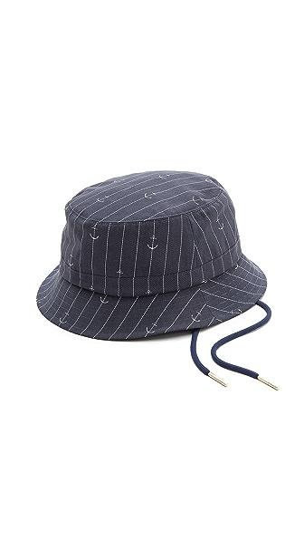 Thom Browne Anchor Print Fisherman Hat