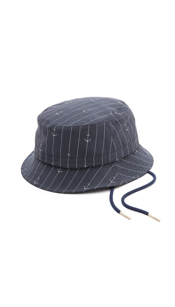 Thom Browne Anchor Print Fisherman Hat