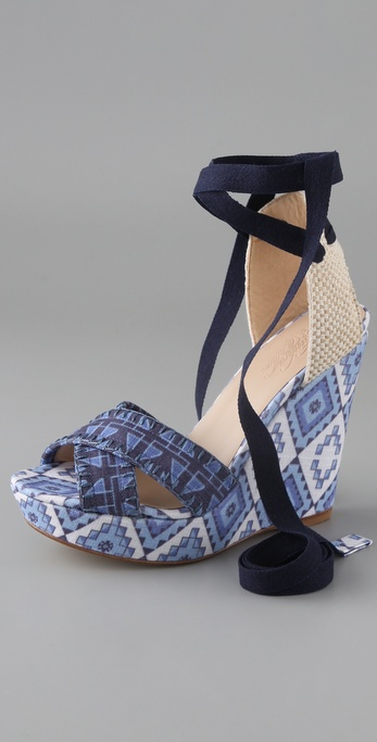 Theodora & Callum Biarritz Wedge Sandals
