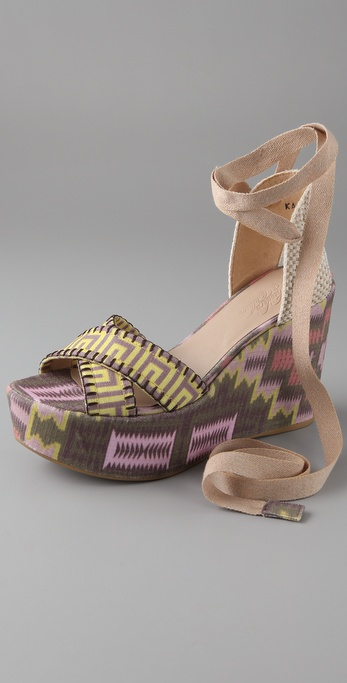Theodora & Callum Lobiarritz Wedge Sandals
