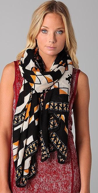 Theodora & Callum Aztec Blanket Scarf