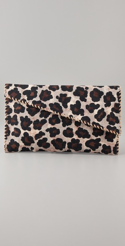 Theodora & Callum Diane Leopard Clutch