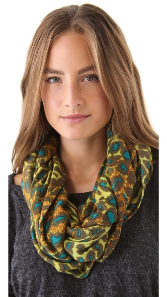 Theodora & Callum Ombre Leopard Infinity Scarf