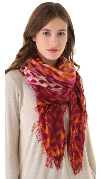 Theodora & Callum Allover Fringe Braid Scarf