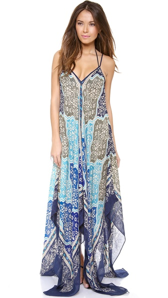 Theodora & Callum Medina Scarf Cover Up Dress