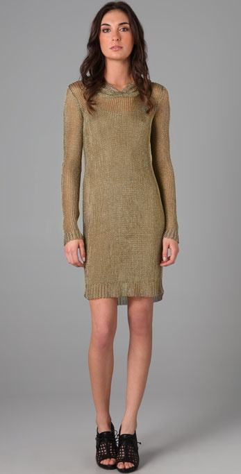 Temperley London Metallic Hoodie Dress