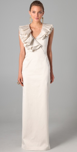 Temperley London Long Ruffle Dress
