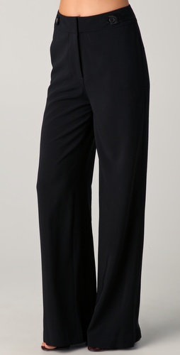Temperley London Wide Leg Tux Trousers